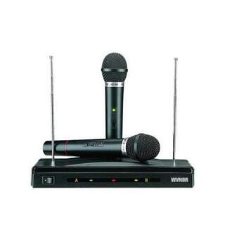 Karaoke Device with 2 Wireless Herostar Microphones