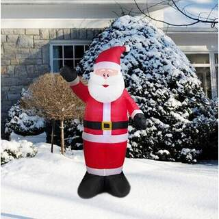 Inflatable Santa Claus with LED Lighting