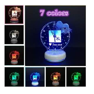 3D Lighting-Clock With 7 Colors