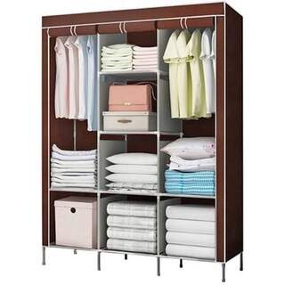 Fabric Portable Wardrobe with Metal Frame