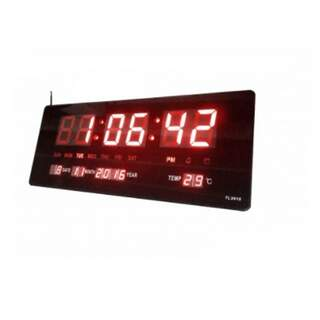 Digital Clock-LED Plate with Thermometer and Calendar